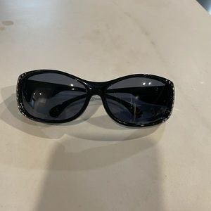 Polarized sunglasses by Solar Shields with bling - perfect condition-can be worn